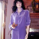 NWT SOFT SURROUNDINGS SILK VELVET BOYFRIEND SHIRT SMALL