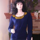 NEW SOFT SURROUNDINGS PLAZA SEQUINED CARDIGAN NAVY S