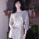 SOFT SURROUNDINGS GLAM TUNIC Soft Grey Medium Petite $118