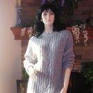 SOFT SURROUNDINGS MY BOYFRIEND'S SWEATER Silk/Angora/Nylon GRAY Washable $128 M