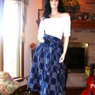 NWT SOFT SURROUNDINGS IKAT SKIRT LINEN COTTON BLUE S