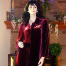 NIP SOFT SURROUNDINGS SILK VELVET POET'S SHIRT GARNET M $99