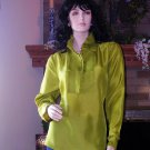 SOFT SURROUNDINGS SILK ROCKSTAR SHIRT PESTO COLOR M $98