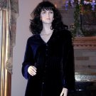 NWT SOFT SURROUNDINGS SILK VELVET SHAPED SHIRT Navy Blue 1X $98