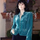 SOFT SURROUNDINGS SILK VELVET RENAISSANCE JACKET S $149
