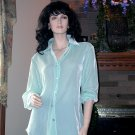 NWT SOFT SURROUNDINGS SILK VELVET BOYFRIEND SHIRT S Awesome Deal Originally $99