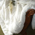 SOFT SURROUNDINGS LOMBARDI SMOCKED COVERLET IVORY KING