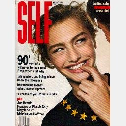 SELF JANUARY 1990 Magazine 1/90 MICHAELA BERCU cover Jamie Lee Curtis
