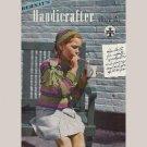BERNAT'S HANDICRAFTER Magazine 1945 Knits Handknits Children Tots Cardigan Sweaters Ensemble