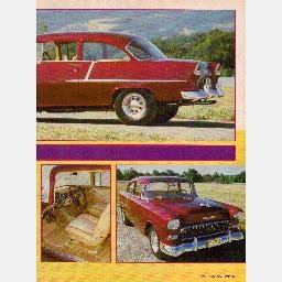 "HOT ROD Magazine 1986 Article ""Candied Classic"" 1955 Chevrolet Chevy Bel Air 210 Sedan BelAir"