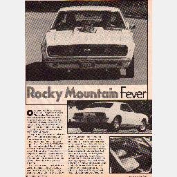 "HOT ROD Magazine 1986 Article ""ROCKY MOUNTAIN FEVER"" 1967 Chevrolet SS-RS CAMARO Roy Martin"