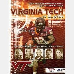VIRGINIA TECH vs NC STATE Game Day Program September 25 2004 Lane Stadium HALL OF FAME CEDRIC HUMES
