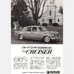"Ad 1963 STUDEBAKER CRUISER ""Car of Quiet Substance"" Magazine"