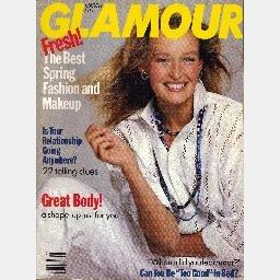 GLAMOUR March 1989 Magazine Estelle Hallyday cover Robert Downey Mica Paris