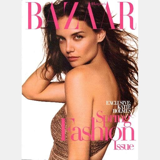 BAZAAR March 2007 Magazine KATIE HOLMES cover DONATELLA ALLEGRA VERSACE John Galliano
