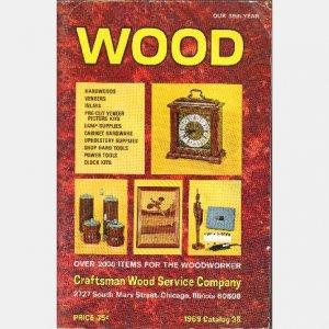 WOOD CATALOG Craftsman Wood Service Company Chicago IL 1969 #35 Woodworker Veneers Clock Inlays