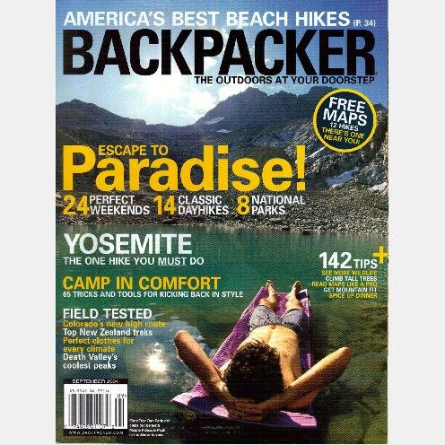 BACKPACKER September 2004 Magazine YOSEMITE Peter Kaestner New Zealand DEATH VALLEY