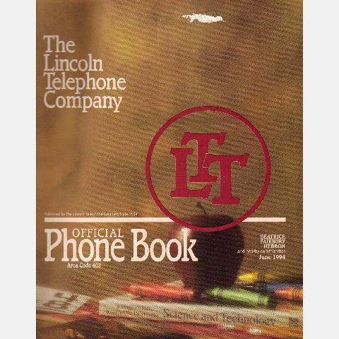 BEATRICE Fairbury Hebron NEBRASKA NE Phone Directory Book 1994 Area Code 402 LINCOLN TELEPHONE CO
