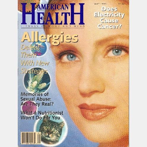 AMERICAN HEALTH May 1993 Magazine Martina Jeannson Allergies MEMORIES SEXUAL ABUSE Childhood Trauma