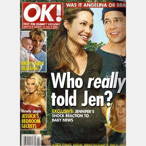 OK! Magazine 24 January 30 2006 Angelina Jolie MEG RYAN Brad Britney Spears Aniston KATHERINE HEIGL