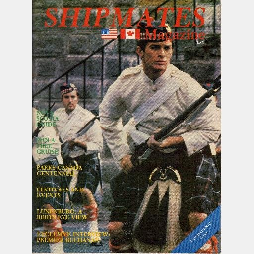 SHIPMATES 1985 NOVA SCOTIA Vacation Guide Magazine Citadel Hill Halifax CANADA