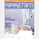 PAPER CRAFTS March 2006 Magazine Cards Chipboard Faux Rickrack Card STAMP & PUNCH