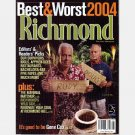 RICHMOND VA Magazine August 2004 Best Worst Restaurants GENE COX Doug Wilder Rudy Boesch
