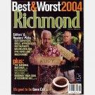 RICHMOND VA Magazine August 2004 Best Worst Restaurants GENE COX Doug Wilder Rudy Boesch