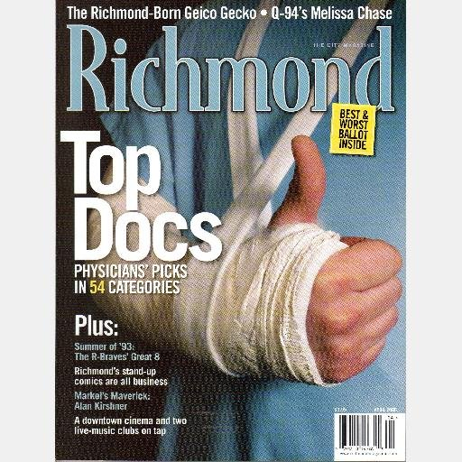 RICHMOND VA Magazine April 2006 Top Docs Doctors Q94 Melissa Chase Alan Kirshner Geico-Gecko