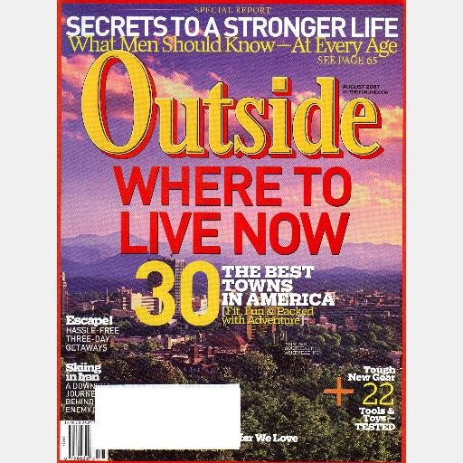 OUTSIDE August 2007 Magazine WILIER TRIESTINA MORTIROLO Skiing Iran ASHEVILLE Bobby Martinez