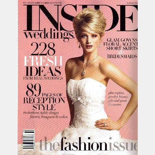 INSIDE WEDDINGS Summer 2007 Magazine ANNE BARGE Cover INVITATIONS table design favors cakes