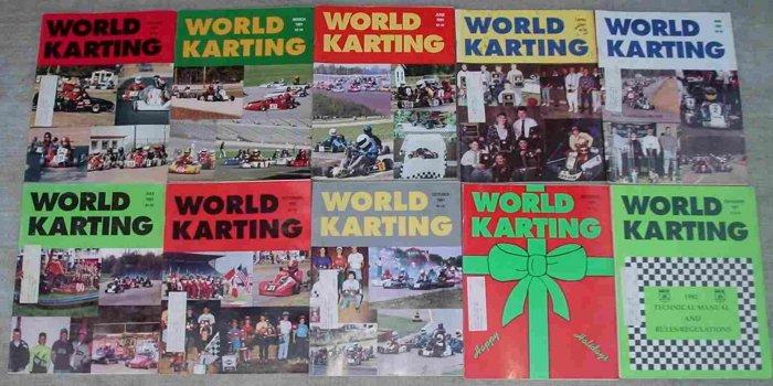 WORLD KARTING magazine LOT 7 1991 Yamaha KT-100S Horseshoe Kartway Great Lakes Sprint