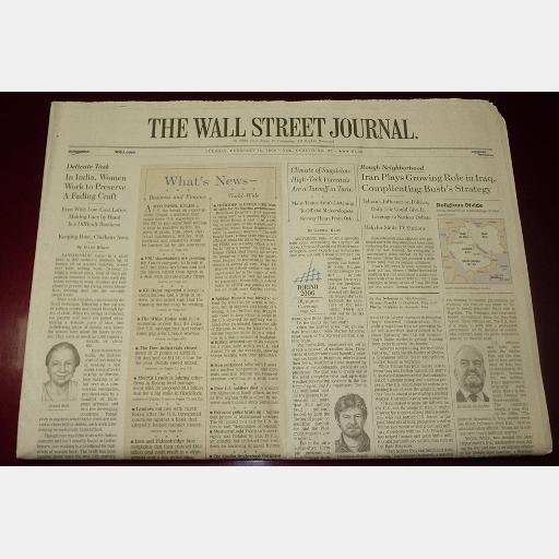 THE WALL STREET JOURNAL Tuesday February 14 2006 news newspaper single issue