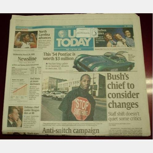 USA TODAY March 29 2006 Wednesday IVORY LATTA UNC Final Four 54 Pontiac Rayco Saunders