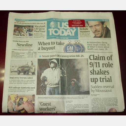 USA TODAY March 28 2006 Tuesday news newspaper Maryland LSU Final Four single issue