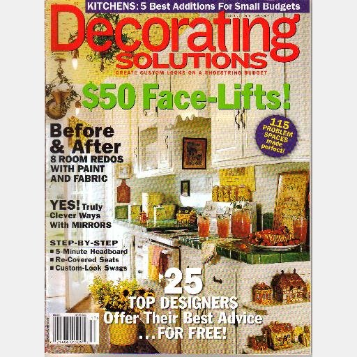 COUNTRY COLLECTIBLES DECORATING SOLUTIONS Magazine No 17 Summer 2004 Mirrors Swags Kitchens