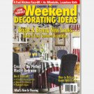 COUNTRY ACCENTS WEEKEND DECORATING IDEAS July 1999 Magazine Fabric IVY-decorated PAINTED ROOM SCREEN