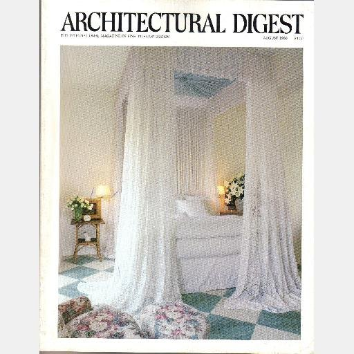 ARCHITECTURAL DIGEST August 1988 Magazine Cesar Pelli Sydney Moss Gallery Dutch Delftware Pictures