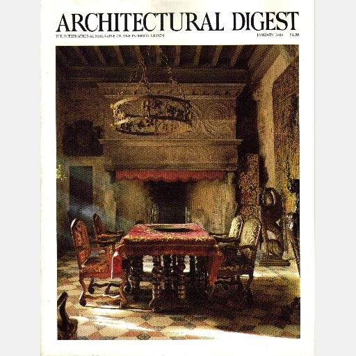 ARCHITECTURAL DIGEST January 1989 Magazine Special French Issue Yves Montand Catherine Deneuve