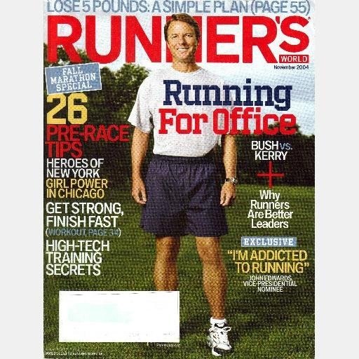 RUNNER'S WORLD November 2004 Magazine JOHN EDWARDS Runners Marathon Tips Plyometric Drills