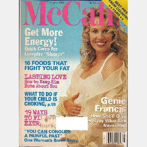 MCCALL'S MCALLS August 1994 Magazine GENIE FRANCIS BABY Best Pies