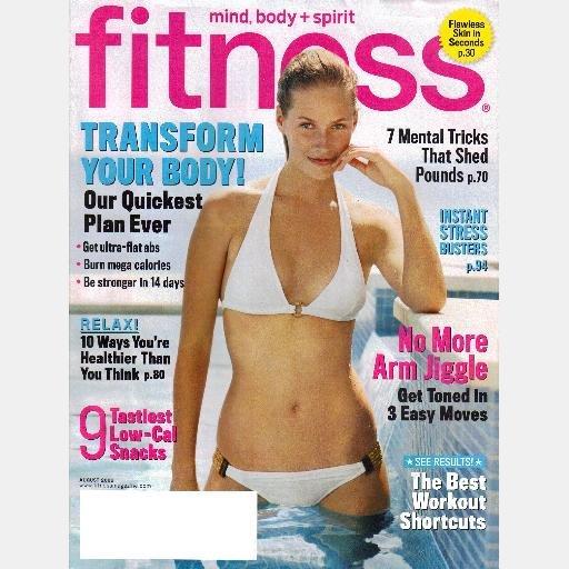 FITNESS August 2006 Magazine ANNIKA DOP cover
