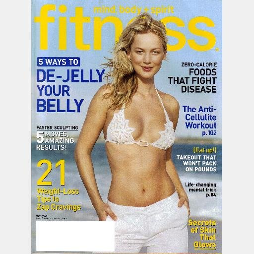 FITNESS May 2006 Magazine JOLIJN SPEK cover MOLLY SIMS