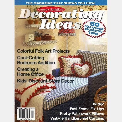 country sampler decorating ideas february 1996 magazine
