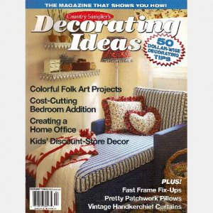 country sampler decorating ideas february 1996 magazine vintage