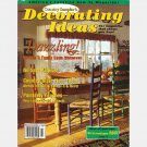 Country Sampler DECORATING IDEAS OCTOBER 1994 Magazine European-style duvet cover LOG CABIN Decor
