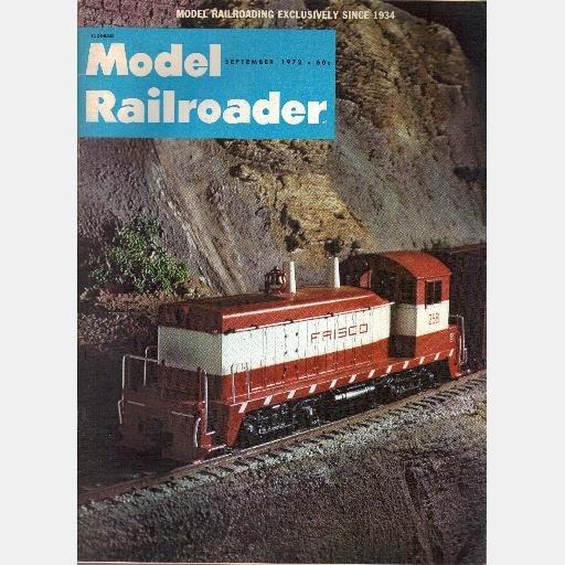 MODEL RAILROADER September 1972 Magazine D&RGW Ditcher Aptakisic Webster Groves CS&CCD caboose