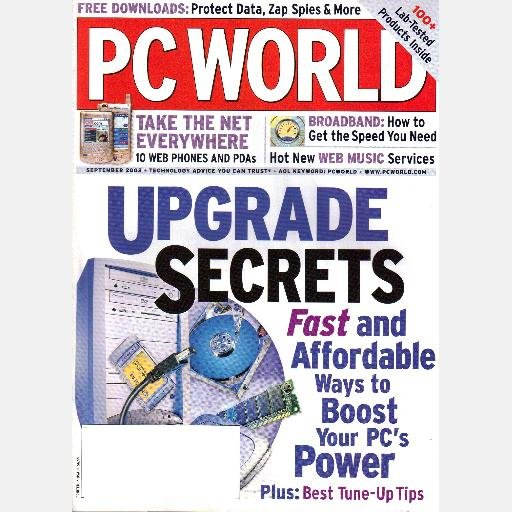 PC WORLD P C Magazine September 2003 Sony VAIO PCG-TR1A  HP Compaq Nc4000 Fujitsu LifeBook P5000