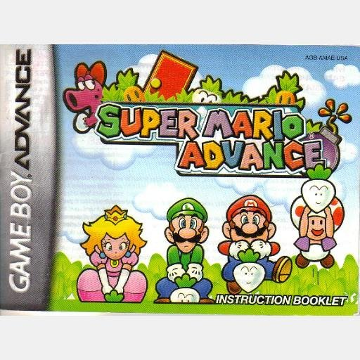 Instruction Booklet Super Mario Advance Gameboy Advance Nintendo 2001