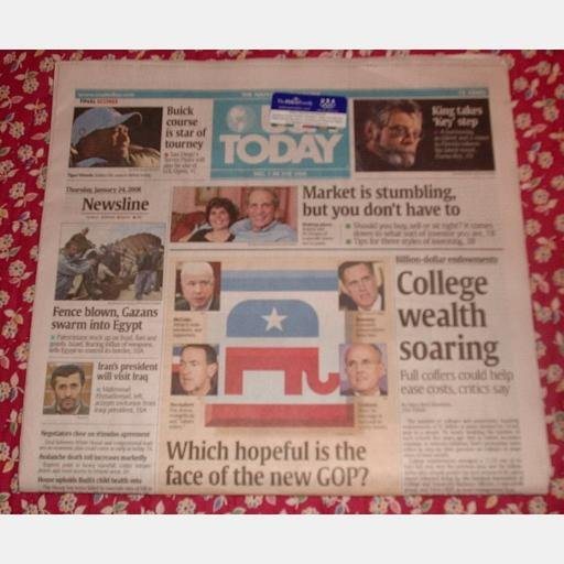 USA TODAY January 24 2008 Newspaper STEPHEN KING DUMA KEY Torrey Pines